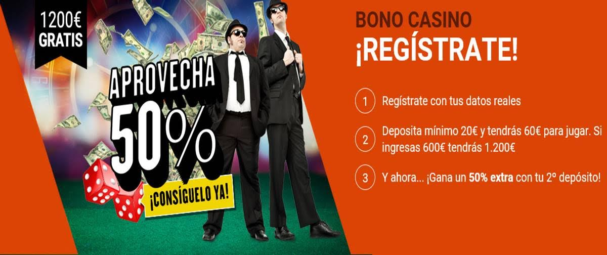 Luckia 50% Extra casino