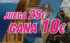 Wanabet slots juega 25€ gana 10€