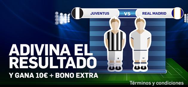 Betfair casino Adivina resultado Juventus - Real Madrid y gana 10€ + bono extra