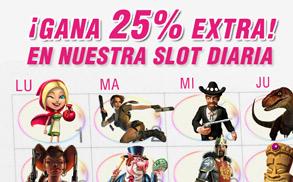Wanabet Slots diarias 25% extra