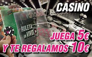 Wanabet casino y ruleta en vivo juega 5€ gana 10€