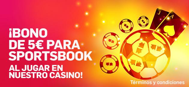Betfair casino 5€ para sportsbook al jugar en casino