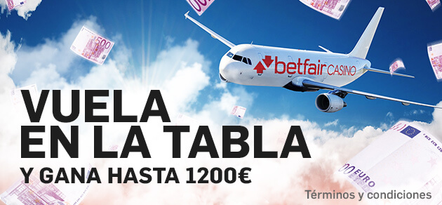 Betfair casino 1200€ sorteo