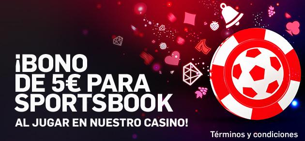 Betfair Casino bono 5€ para sportsbook