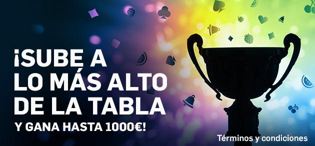 Betfair casino competicion tabla 1000€