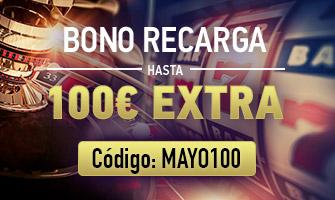 sportium bono recarga 100€ mayo