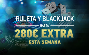 Sportium 280€ extra Ruleta y Blackjack