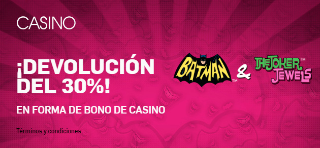 Betfair casino slots 30% devolucion