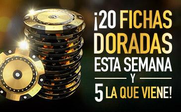 Sportium 20 Fichas doradas esta semana y 5 casino