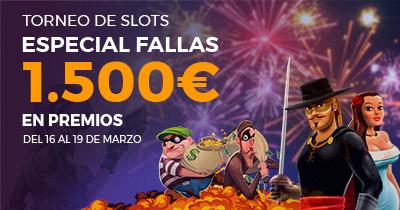 Paston Torneo de Slots especial Fallas 1.500€ en premios