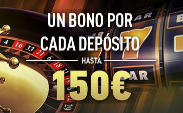 bonos de casinos Sportium casino un bono por cada depósito hasta 150€