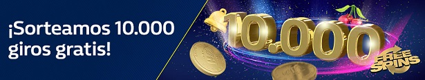 Bonos de casinos Williamhill sorteo 10.000 giros gratis