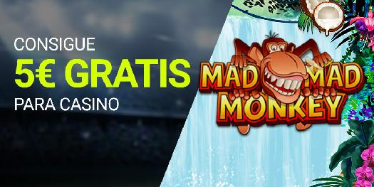 Luckia casino 5€ con Mad Mad Monkey
