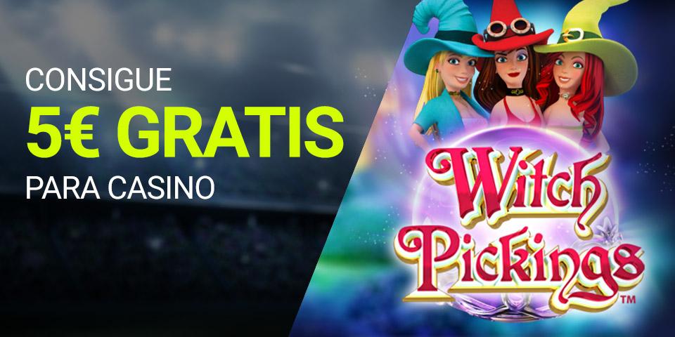 Bonos de Casinos Luckia casino 5€ gratis con la slot Witch Picking