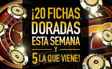 Bonos de Casinos Sportium 20 fichas doradas esta semana y 5 la que viene!