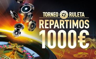 Sportium casino Torneo Ruleta 1000€