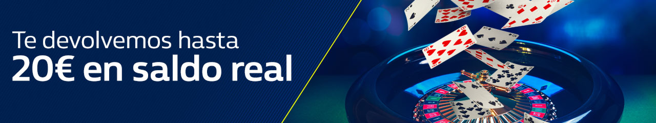 William hill casino devuelve 20€ en saldo real