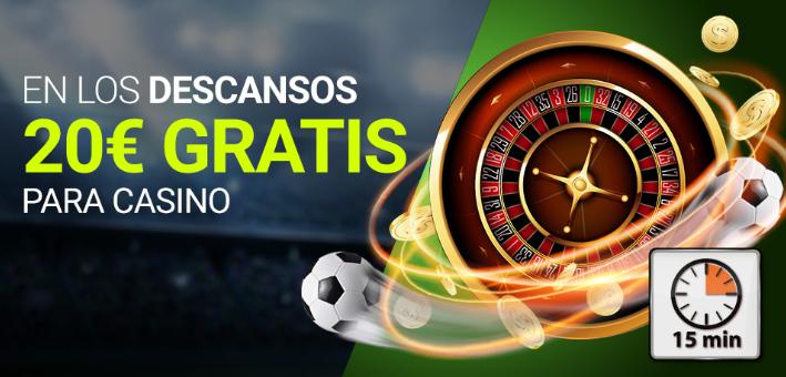 bonos de casinos Luckia casino 20€ gratis jugando slots en descanso Final Champions