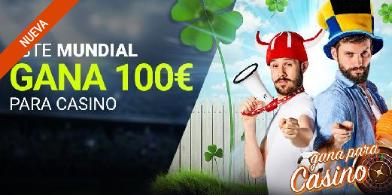 bonos de casinos Luckia Este Mundial gana 100€ para casino