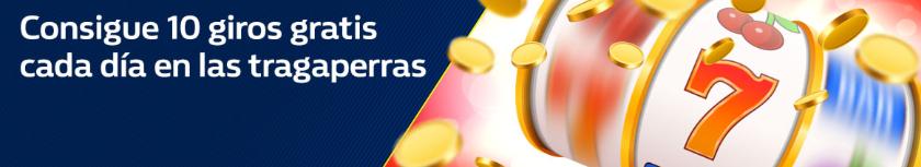bonos de casinos William Hill 10 giros gratis en Tragaperras