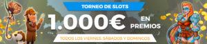 Torneo fin de semana tragaperras con 1000€ a repartir en Paston