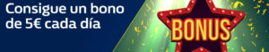 Consigue un bono de 5€ cada dia en William Hill