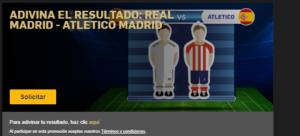 Acierta resultado R.Madrid v At.Madrid en casino Betfair