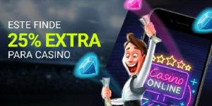 Este finde 25%extra para el casino en Luckia