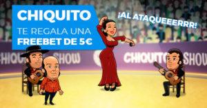Promocion Chiquito:Chiquito te regala una apuesta gratuita de 10€ en Paston