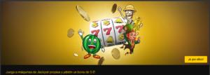 Juega a maquinas jackpot propias y obten un bono de 5€ con Bwin