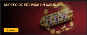 Sorteo de premios en el casino Betfair