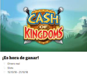 Es hora de ganar con cash of kingdoms y Paf