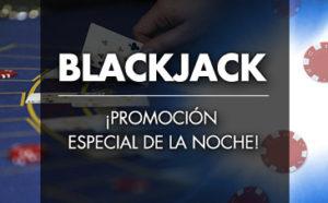 Blackjack promocion noche en Sportium