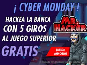 Cyber monday hackea la banca con 5 giros superiores en Suertia