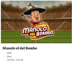 Juega a la tragaperra Manolo el del bombo y entra en el sorteo de 500€ en bonos con Paf