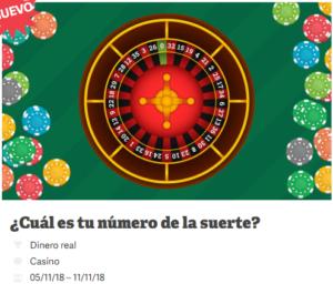 Ruleta:¿cual es tu numero de la suerte?Paf