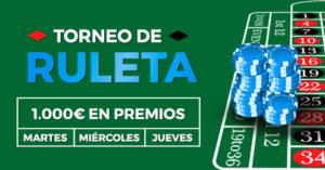 Torneo ruleta 1000€ en premios en Paston