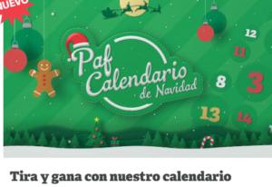 Calendario de navidad Paf