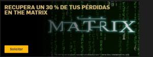 Recupera hasta un 30% de tus perdidas en Matrix en Betfair