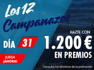 Los 12 campanazos hazte con 1200€ en premios con Suertia