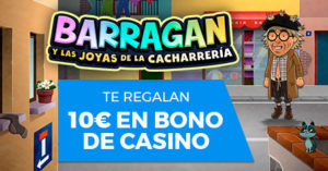 Barragan te regala 10€ en bono de casino Paston