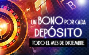 En diciembre un bono por cada deposito en Sportium