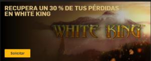 Recupera un 30% de tus perdidas en white king con Betfair
