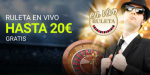 Ruleta en vivo hasta 20€ gratis en Luckia
