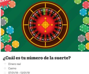 Paf roulette numero de la suerte el 16 en casino Paf