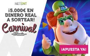 Torneo Carnival mania 5000€ en premios en Wanabet