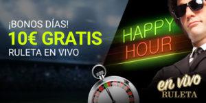 Buenos dias 10€ gratis en ruleta live en Luckia