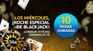 Los miercoles noche especial de blackjack en Merkurmagic