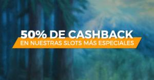 50% cashback en nuestras tragaperras mas especiales con Paston