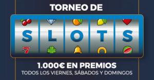Torneo de tragaperras fin de semana 1.000€ en premios en Paston
